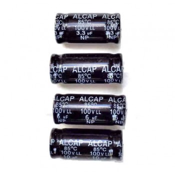 Alcap 4.00uF Low Loss 100VDC Electrolytic Capacitor
